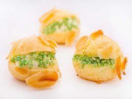 Choux aux amandes, Crème de Chèvre & Wasabi